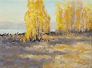 """Autumn Abandon"" Original Landscape Painting by Karen Ilari"