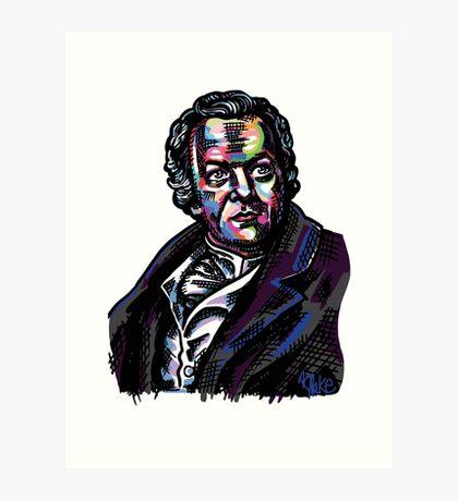 Colorful William Blake Portrait Art Print