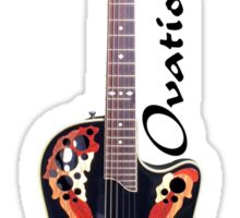 Ovation CS 257 guitar (labeled) Sticker