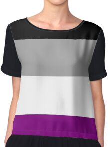 Asexual Pride Flag Chiffon Top