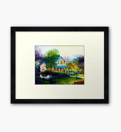 Jasmines Garden Framed Print
