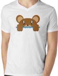 Super Echo Bear Pocket Bear Mens V-Neck T-Shirt