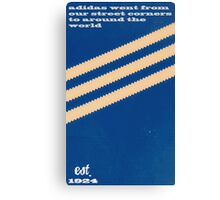 Adidas Blue Stripe  Canvas Print