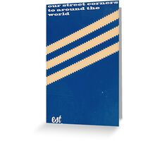 Adidas Blue Stripe  Greeting Card