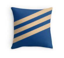 Adidas Blue Stripe  Throw Pillow