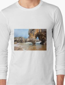 Beach of Caves of the sea Long Sleeve T-Shirt