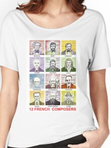 12 French Composers Women's Relaxed Fit T-Shirt