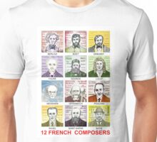 12 French Composers Unisex T-Shirt