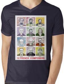 12 French Composers Mens V-Neck T-Shirt