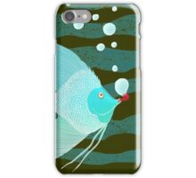 Bubble Fish Red Pipe iPhone Case/Skin
