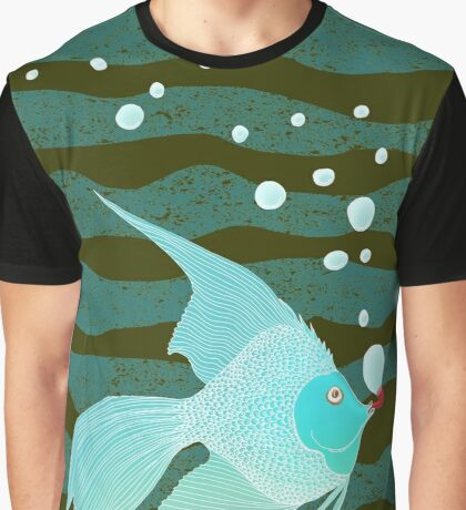 Bubble Fish Red Pipe Graphic T-Shirt