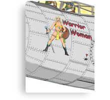 Aircraft nose art Warrior Woman Canvas Print
