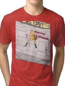Aircraft nose art Warrior Woman Tri-blend T-Shirt