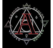 A is for Alchemy Photographic Print
