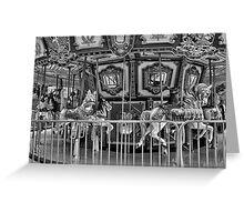 Boston Common Carousel Study 3  Greeting Card