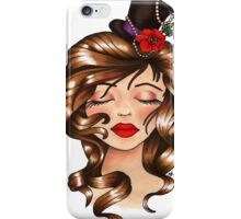 Girl With Flower Hat iPhone Case/Skin