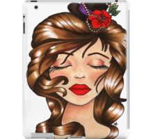 Girl With Flower Hat iPad Case/Skin