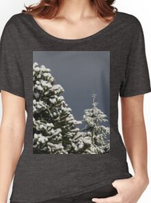 Snow Covered Trees Women's Relaxed Fit T-Shirt