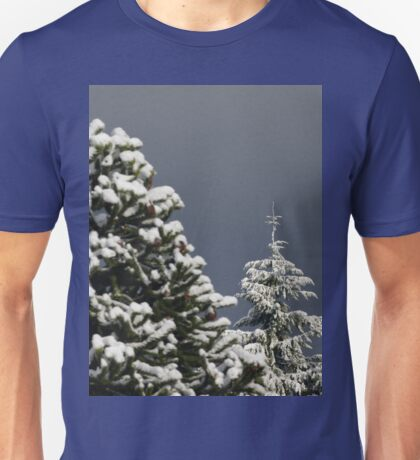 Snow Covered Trees Unisex T-Shirt