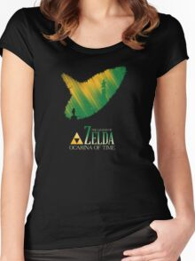 The legend of zelda ocarina of time Women's Fitted Scoop T-Shirt