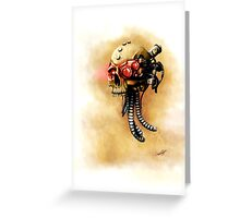 Maniacal Skull  Greeting Card