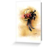 Maniacal Skull  Greeting Card