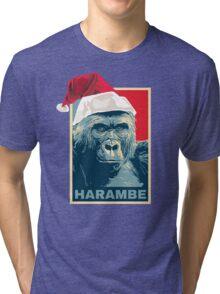 Harambe - Christmas Holidays Tri-blend T-Shirt