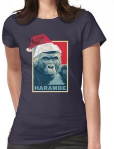 Harambe - Christmas Holidays Womens Fitted T-Shirt