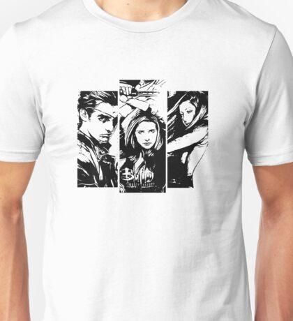 B&W BtVS Trio Unisex T-Shirt