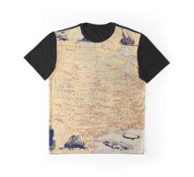 American Military Posts 1944 Graphic T-Shirt