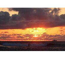 Paddling into sunset Photographic Print