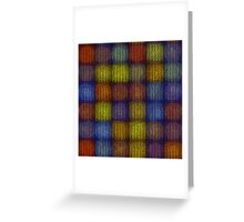 Seamless knitted pattern  Greeting Card