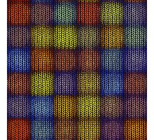 Seamless knitted pattern  Photographic Print