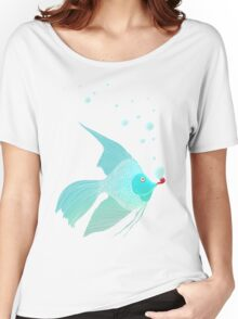 Bubble Fish Red Pipe Women's Relaxed Fit T-Shirt