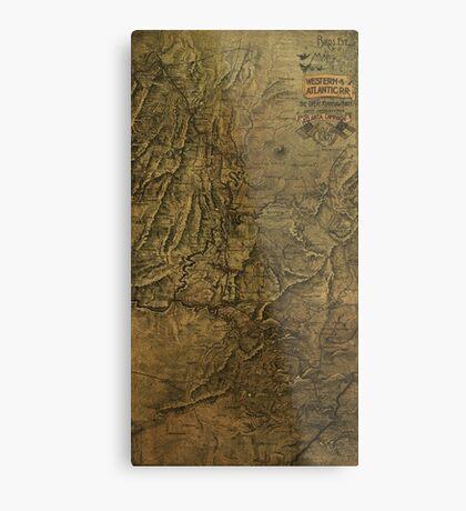 Military Map 1864 Metal Print