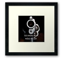 Go Ahead Punk, Make My Day Framed Print