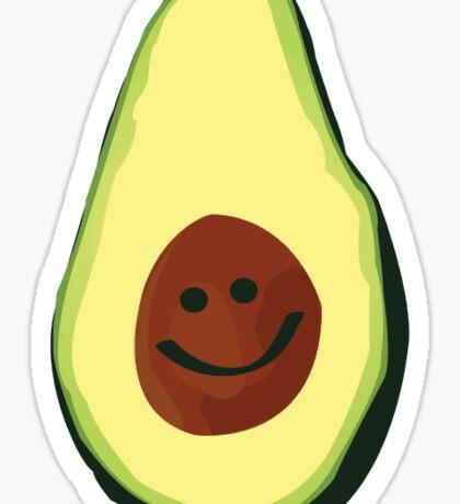 Avocado Smile Sticker
