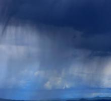 Summer storm over Volvi lake - Thessaloniki Sticker