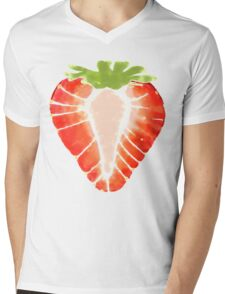 Strawberry Secret Mens V-Neck T-Shirt