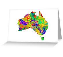 Australia Watercolor Map Greeting Card