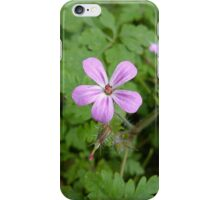 Pink Wildflower - Herb Robert iPhone Case/Skin