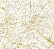 Berlin Map Gold Sticker
