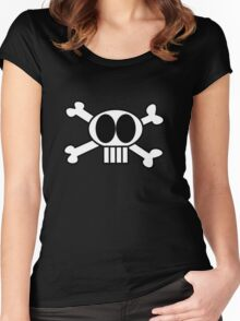Skull Shirt - Funny Skull and Bones Women's Fitted Scoop T-Shirt