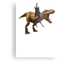 Capaldi on a Dinosaur Metal Print