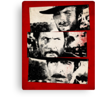 the good,the bad,and the ugly Canvas Print