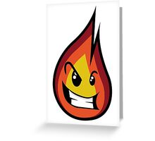 Flame - Cute Monster Greeting Card