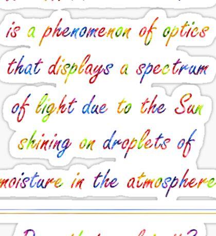 Lux Double Rainbow... Demacia! Sticker