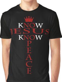 Know Jesus Know Peace Graphic T-Shirt