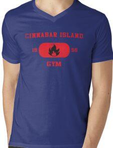 Cinnabar Island Gym Mens V-Neck T-Shirt