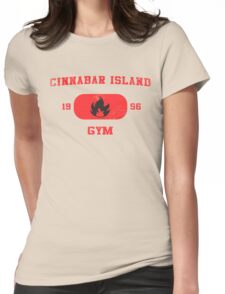 Cinnabar Island Gym Womens Fitted T-Shirt